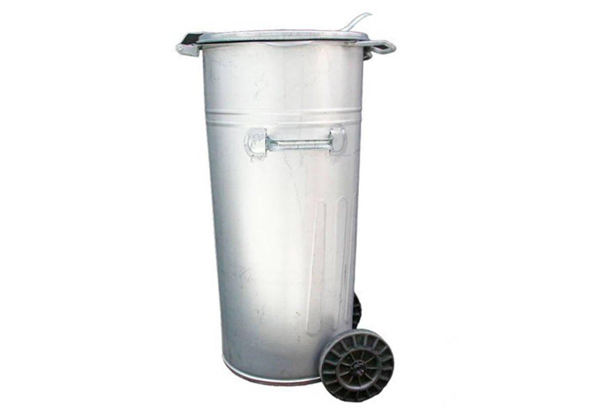 W Ultra Metalowy kosz na śmieci z kółkami, pojemnik na popiół i odpady 110 UT85